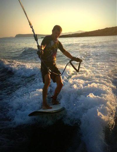 Wakesurfing @ Faragas Beach